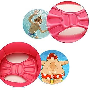 Baby Schwimmsitz Rosafarbener Flamingo Aufblasbar Kinder Schwimmring Einhorn Cartoon Aufblasbares Schwimmreifen Badespielzeug (Baby Schwimmring, Baby Flamingo) 6