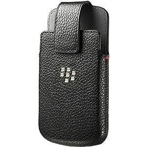 BlackBerry Leather Swivel Case for Q10 - Black