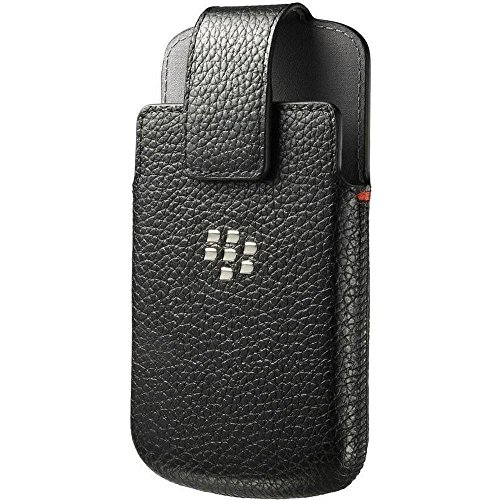 Preisvergleich Produktbild Blackberry ACC-50879-201 Leder Holstertasche mit Gürtelklipp für Q10 schwarz