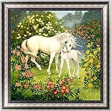 Jagenie DIY 5D diamante ricamo cavallo pittura a punto croce Craft Home Office Decor 30x 30cm