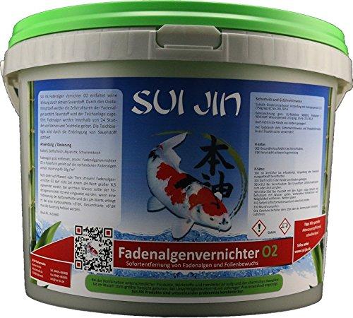Herren Kurze Wirkung (SUI JIN Teichprodukte 5kg(5L) Fadenalgenvernichter O2 - Sofortwirkung gegen Fadenalgen)
