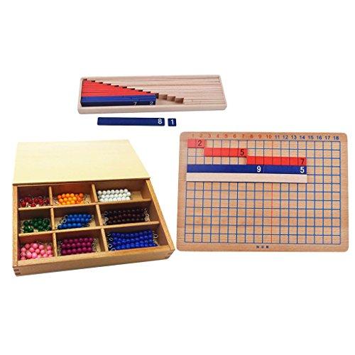 MagiDeal Montessori Material de Enseñanza de Matemáticas Juguetes Educativos Preescolares Hecho de Madera