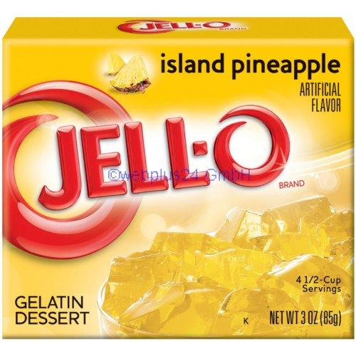 JELL-O ISLAND PINEAPPLE GELATIN DESSERT 85g AMERICAN JELLO Test