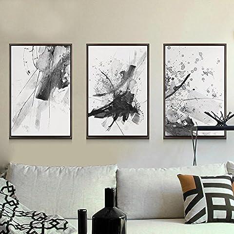 DONG Inchiostro dell'acquerello Salone minimalista moderno decorazione appeso ristorante murale tre pezzi costume , black box ,