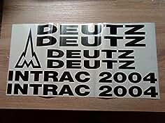 Deutz Traktor Intrac 2004 Aufklebesatz schwarz