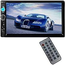 PolarLander 2 DIN 7 pulgadas de pantalla táctil LCD de la radio de coche de apoyo al jugador Bluetooth manos libres para 1080P Película cámara de visión trasera