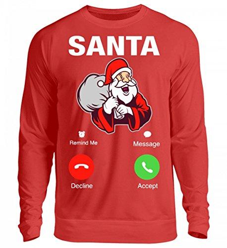 Hochwertiges Unisex Sweashirt - Weihnachten Geschenk Santa Calling Feuerrot
