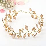Aukmla Bridal Hair Vine and Headband Leaves New Fashion Headpieces Wedding for Women and Girls