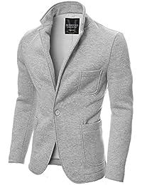 MODERNO - Slim Fit Freizeit Baumwolle Herren Sakko Blazer (MOD14515B)