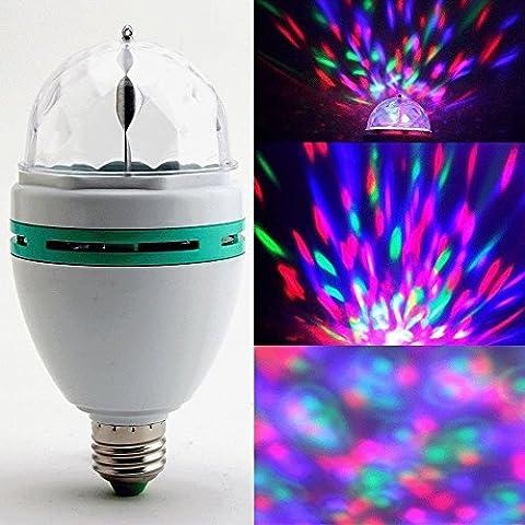 Denshine Bola de Cristal Etapa de Luces Led Lámpara de luz para DJ / Disco // Partido 3W