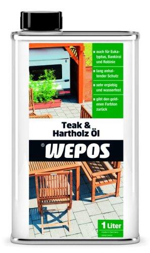 Preisvergleich Produktbild Wepos 2000300657  Teak- und Hartholz Öl 1 Liter
