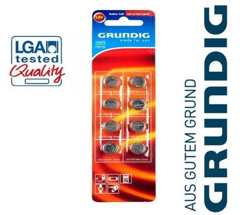 Produktbild 8x Knopfzellen Grundig Batterien AG13 357 LR 44 Uhren Batterie Knopfzelle 1, 5 V
