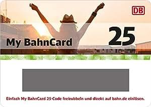 Deutsche Bahn | My BahnCard 25 Geschenkkarte (Gutschein ausschließlich einlösbar von jungen Reisenden zwischen 6 und 26 Jahre!) - exklusiv bei Amazon