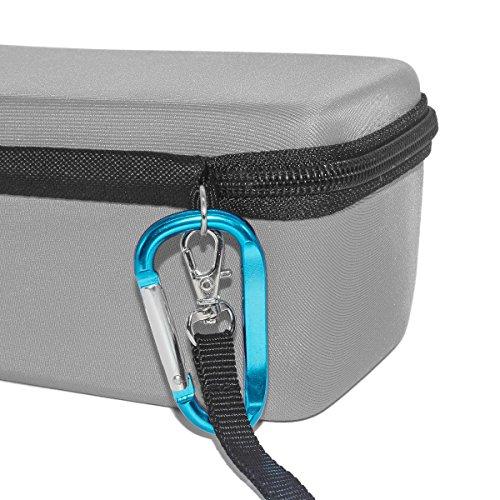 TEQIN EVA Hart Bose Hülle Reise Aufbewahrung Schutz Tasche mit Rucksack Hängende Schnalle + Samt Tasche 2in1 Kit für Bose SoundLink Mini Bluetooth Drahtloser Lautsprecher (Grau)