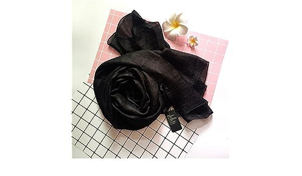 TIANLU Foulard Foulard soie élégante couleur uni Serviette de plage Fashion  fantaisie foulard, Décoration, 1,110-190Carrière, cm  Amazon.fr  Sports et  ... 5caadcf8fe7