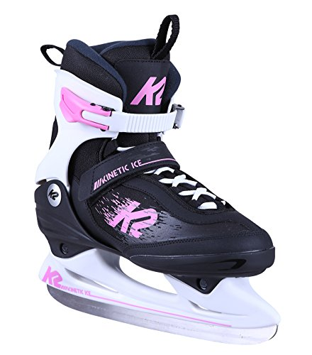 K2 Damen Kinetic Ice W Schlittschuh, Schwarz Pink, 40.5 EU