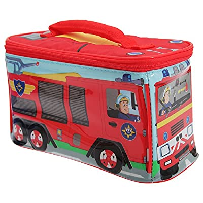 Fireman Sam Childrens Boys Official Fire Engine Shaped Lunch Bag