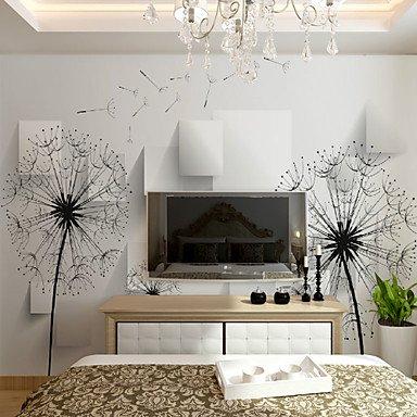 dandelion-wallcover-simple-modern-3d-wallpaper-bedroom-tv-background-wallpaper-wallpaper-living-room