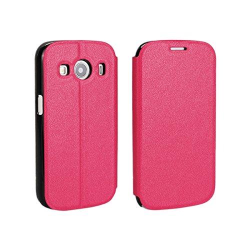 Samsung Galaxy Ace Style LTE G357 Hülle, CaseFirst Leder Handyhülle PU Geldbörse Anti-kratzer Lederhülle Schutzhülle Schutz Stoßfest Bookstyle Wallet Case mit Karten fächer (Pink)
