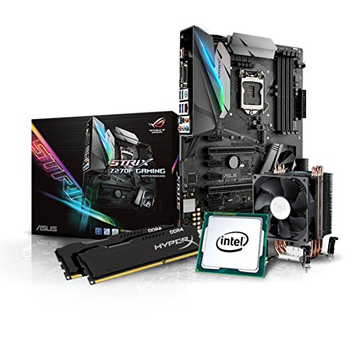 Kiebel Gaming Aufrüst-Bundle (v7): [184446] Intel Core i7-7700K Quadcore (4x4.2 GHz) | 16GB DDR4-2666 MHz | Intel HD Grafik | Sound | ASUS Strix Z270F Gaming | komplett vormontiert und getestet