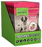 Natures Menu - Bolso para perro o adulto, carne, 300 g (paquete de 8)