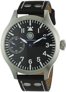 Reloj Constantin Durmont Raider de caballero manual con correa de piel negra - sumergible a 30 metros de Constantin Durmont