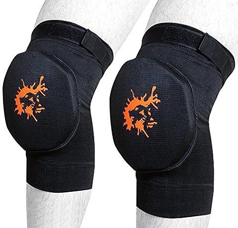 Tigron Genouillères Brace support protecteur Rembourrage en mousse de boxe kickboxing Guard Wraps élastique Shield, petit
