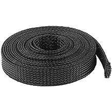 Spiralkabel Kabelhülle flexibel Rohr Computer PC Rechner Cord schwarz