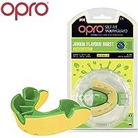 Paradenti Junior Opro modellabile aromatizzato per bambini per la pratica di rugby, hockey, boxe, karate, arti marziali, Lemon