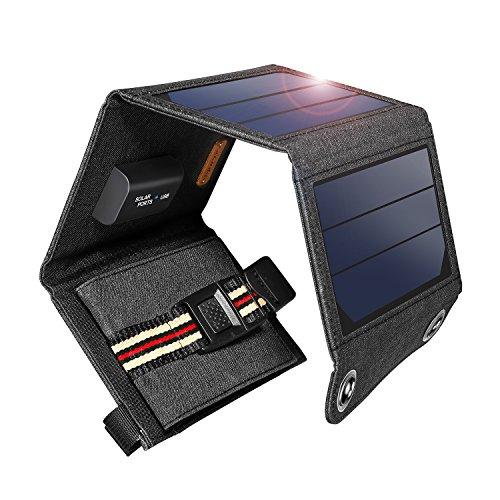 SUAOKI 7W Solar Ladegerät Beweglicher Solar Panel Ladegerät Outdoor Charger für Andriod Smartphone Tablets Apple iPhone iPad usw.
