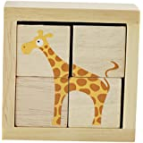 BeginAgain BuddyBlocks Safari Animals - Educational Puzzle - Toddlers Love Playing with the Colorful Wooden Animals - Fun Puzzle Game + Perfect Preschool Puzzle by BeginAgain