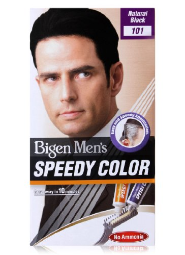 Bigen Men's Speedy Color, Natural Black 101 (40g + 40g )