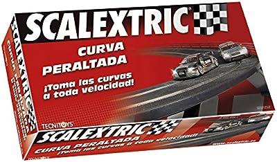 Scalextric - Curva peraltada; accesorio de circuito, no incluye coches (88680)
