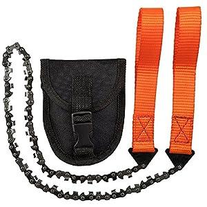 Handkettensäge, 33 Kohlenstoffstahlzähne Folding Survival Chain Saw Starke scharfe Zähne Camping Wandern Jagd…