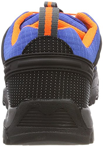 CMP Rigel, Zapatos de Low Rise Senderismo Unisex Adulto, Azul (Zaffiro-Grey-Orange Fluo), 40 EU