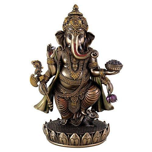 Ganesha Idol, gegossene Bronze, Skulptur, Figur, von Hindu-Gott Ganesha Statue Diwali Geschenk Lord -