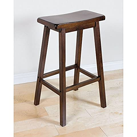 ACME Gaucho Collection Bar Stool Solid Wooden Frame Construction 29-Inch,