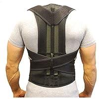 ZSZBACE Corrector de Postura de la Espalda para la alineación de la Columna Vertebral y el Dolor de Espalda Superior - Postura Ajustable de la Espalda para aliviar el Dolor de Espalda (XL)