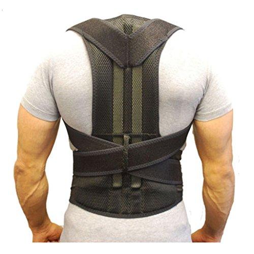 Postura schiena ZSZBACE, per raddrizza spalle - Tutore per clavicola, aiuta a tenere le spalle diritte e in fuori. Migliora una postura scorretta. Unisex (M)