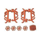 SHARROW Compound Bogen Stabilisator Bogen Glied Dämpfer Bogensehne Schalldämpfer Saitenschalldämpfer für Bogensport Bogenschießen (Rot)