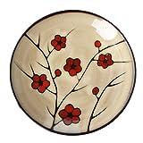 WSWJJXB Japanischer Stil und Wind Handbemalt Pflaume Keramik Geschirr Kleine Kochplatte Nudel Schüssel Suppenschüssel Underglaze Farbe Schöpfung (größe : 28 * 3cm)