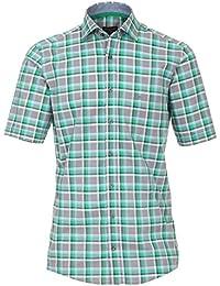Casa Moda - Comfort Fit - Herren Freizeit 1/2-Arm-Hemd mit Karo Muster und Kent Kragen (972756600)