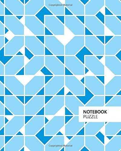 Puzzle Notebook: (Blue Edition) Fun notebook 192 ruled/lined pages (8x10 inches / 20.3x25.4 cm / Large Jotter)