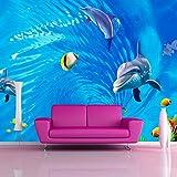 Abihua Carta Da Parati Murale 3D Personalizzata Per Pareti Carta Da Parati Murale 3D Carta Da Parati Oceano Turbolenta Carta Da Bambini Tv Per Bambini 300Cm X 200Cm