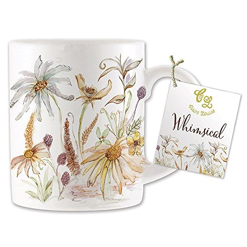 Skurril Floral Print Bone China Tasse