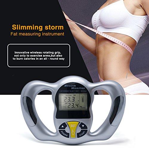 ZUZU Elektronischer digitaler Handheld-BMI-Monitor - Body-Mass-Index-Analysegerät mit LCD-Anzeige, kabellose Messung des heißen Körperfetts
