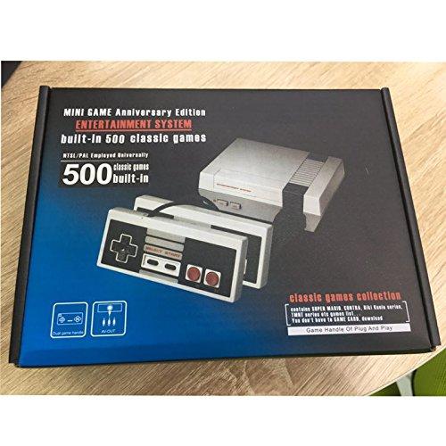 Lanlan: Konsolen-Spiel Mini Family Classic Videospiel von 500Spiele Decoder mit Doppelter Controller (SD, AV-Anschluss) (Super Nintendo Metroid)