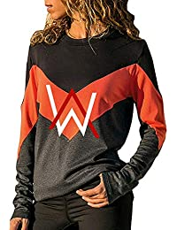 Alan Walker Unisex Mujeres Camisetas Manga Corta Tshirts Letras Impresas Blusas Cuello Redondo Camisas Clasicos Blusas