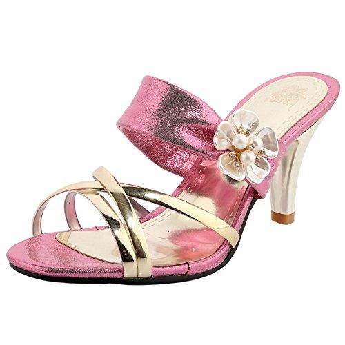 Coolcept Femmes a Enfiler Talons Sandales pink