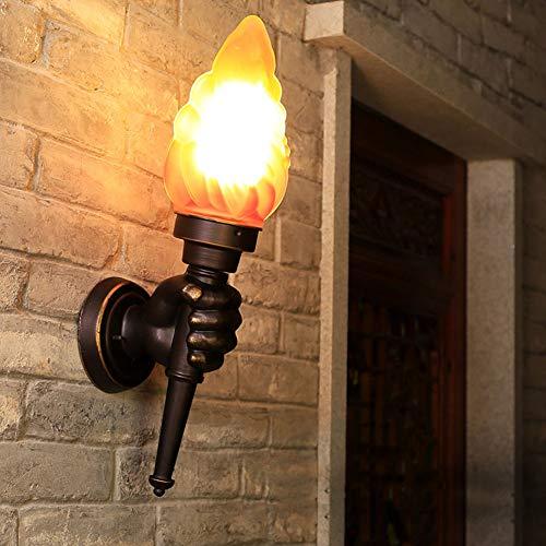 Antorcha Creativa Lámpara de Pared, Luz de antorcha Luz Exterior Jardín Porche...
